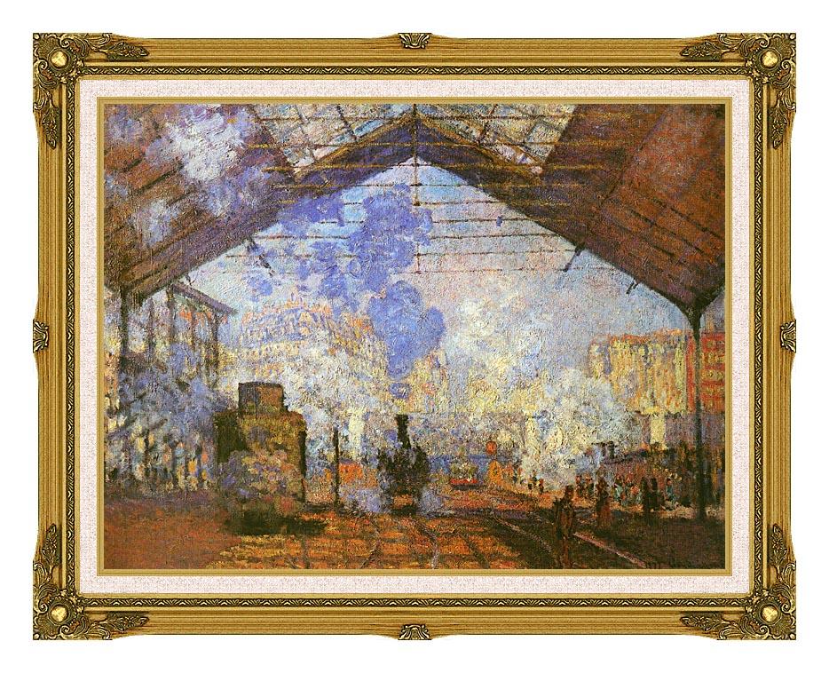 Claude Monet La gare Saint Lazare with Museum Ornate Frame w/Liner