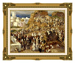 Pierre Auguste Renoir The Mosque Algiers canvas with museum ornate gold frame