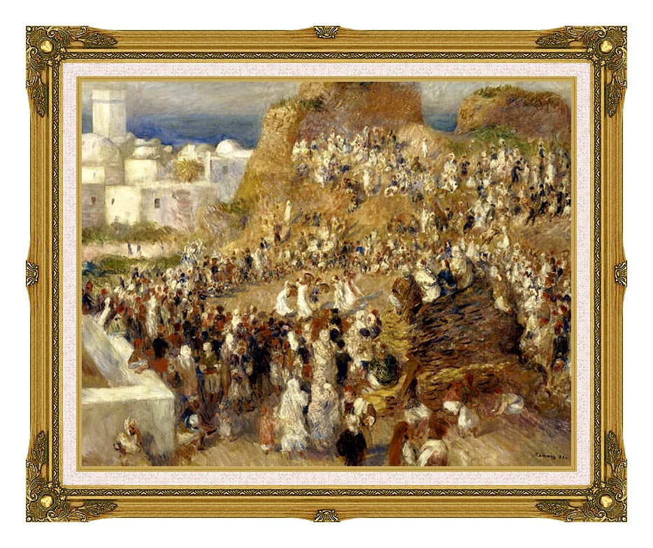 Pierre Auguste Renoir The Mosque, Algiers with Museum Ornate Frame w/Liner