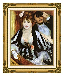 Pierre Auguste Renoir La Loge canvas with museum ornate gold frame