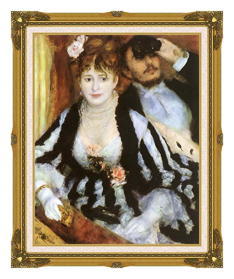 Pierre Auguste Renoir La Loge with Museum Ornate Frame w/Liner