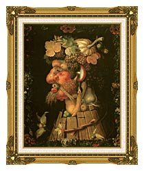 Giuseppe Arcimboldo Autumn canvas with museum ornate gold frame