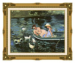 Mary Cassatt Summertime canvas with museum ornate gold frame