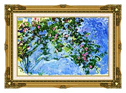 Claude Monet The Roses canvas with museum ornate gold frame