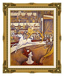 Georges Seurat The Circus canvas with museum ornate gold frame