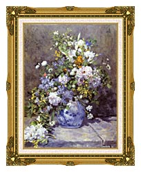 Pierre Auguste Renoir Spring Bouquet canvas with museum ornate gold frame