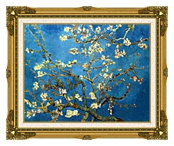 Vincent Van Gogh Almond Blossom canvas with museum ornate gold frame