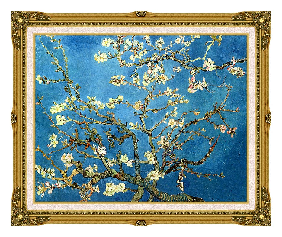 Vincent van Gogh Almond Blossom with Museum Ornate Frame w/Liner