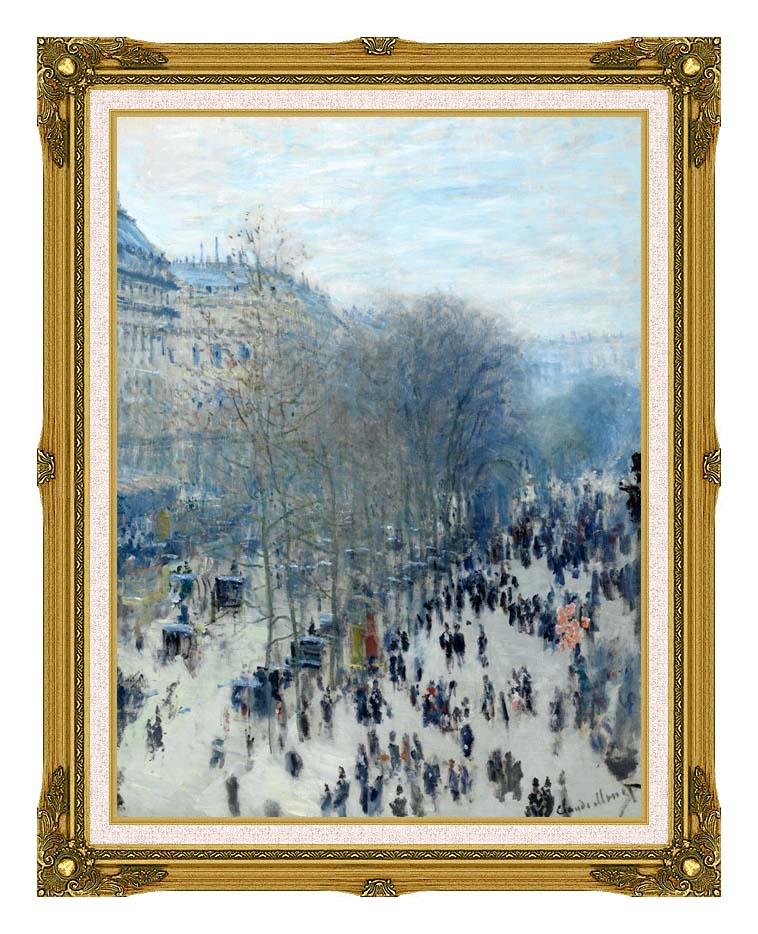 Claude Monet Boulevard des Capucines with Museum Ornate Frame w/Liner