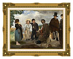 Edouard Manet The Old Musician canvas with museum ornate gold frame