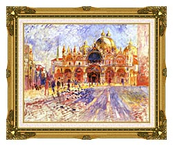 Pierre Auguste Renoir Piazza San Marco Venice canvas with museum ornate gold frame
