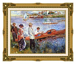 Pierre Auguste Renoir Oarsmen At Chatou canvas with museum ornate gold frame