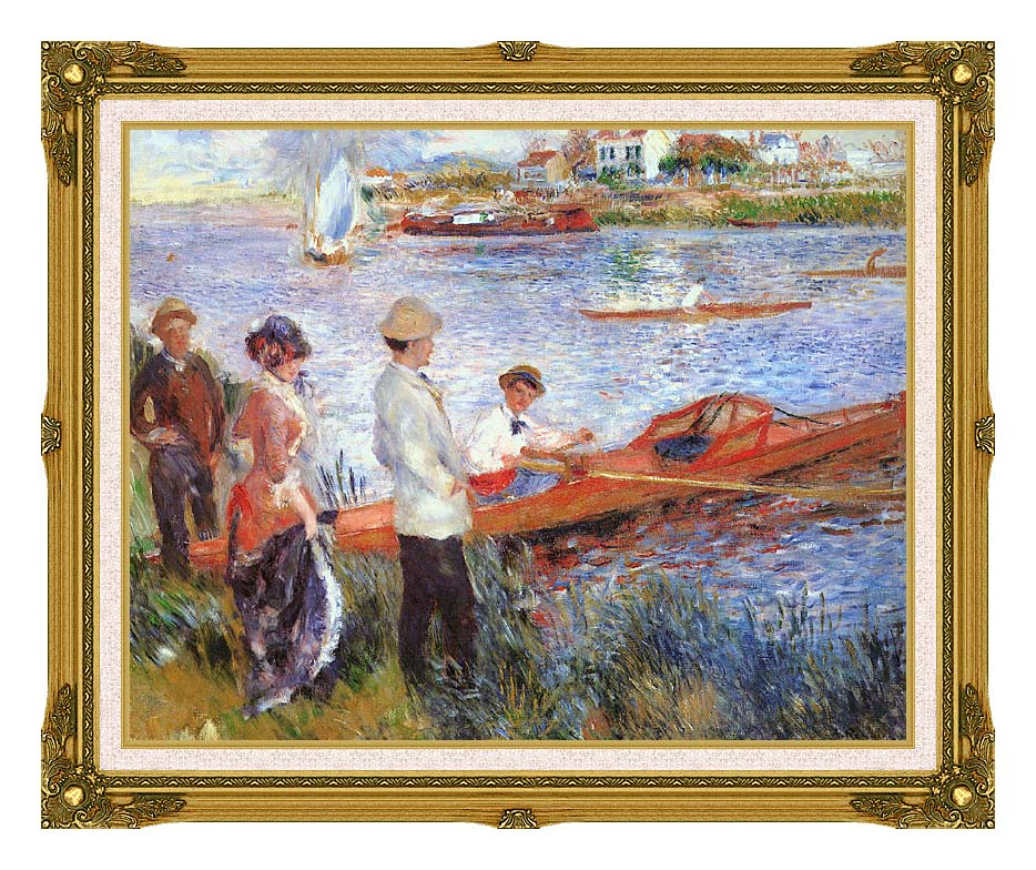 Pierre Auguste Renoir Oarsmen at Chatou with Museum Ornate Frame w/Liner