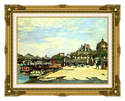 Pierre Auguste Renoir The Pont Des Arts canvas with museum ornate gold frame