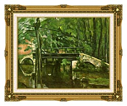 Paul Cezanne The Bridge At Maincy canvas with museum ornate gold frame