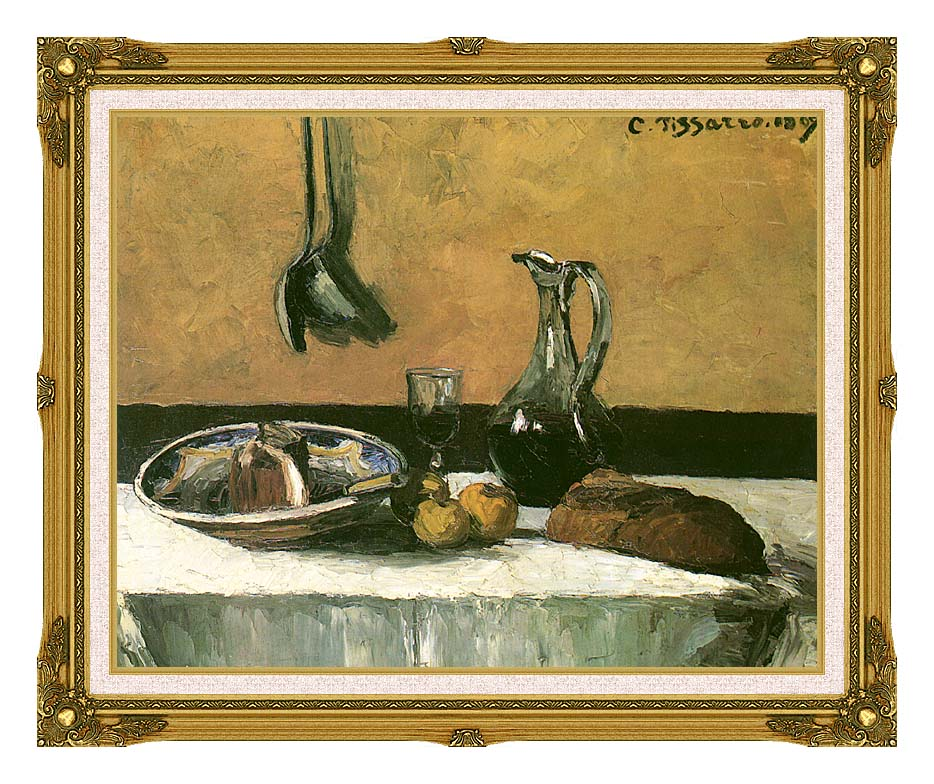Camille Pissarro Kitchen Still Life with Museum Ornate Frame w/Liner