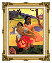 Paul Gauguin When Will You Marry canvas with museum ornate gold frame