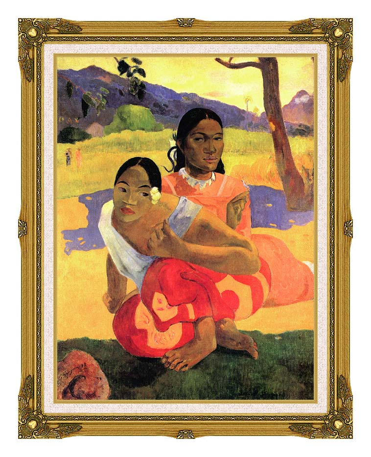 Paul Gauguin When Will You Marry? with Museum Ornate Frame w/Liner