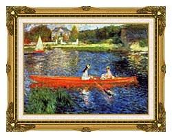 Pierre Auguste Renoir The Skiff canvas with museum ornate gold frame