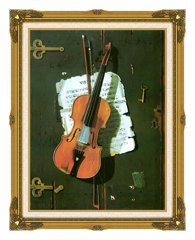 John Frederick Peto The Old Violin with Museum Ornate Frame w/Liner