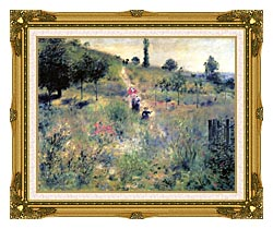 Pierre Auguste Renoir Path Winding Through High Grass canvas with museum ornate gold frame