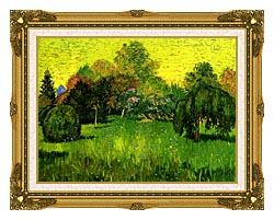 Vincent Van Gogh Public Park With Weeping Willow The Poets Garden I canvas with museum ornate gold frame