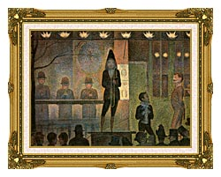 Georges Seurat Invitation To The Sideshow canvas with museum ornate gold frame