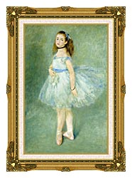 Pierre Auguste Renoir The Dancer canvas with museum ornate gold frame