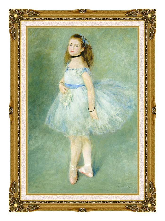 Pierre Auguste Renoir The Dancer with Museum Ornate Frame w/Liner