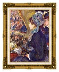 Pierre Auguste Renoir La Premiere Sortie canvas with museum ornate gold frame