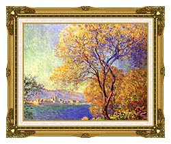 Claude Monet Antibes Seen From La Salis canvas with museum ornate gold frame