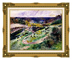 Pierre Auguste Renoir Road At Wargemont canvas with museum ornate gold frame