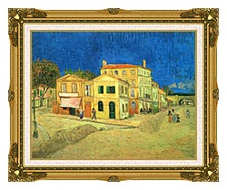 Vincent Van Gogh Vincents House In Arles canvas with museum ornate gold frame