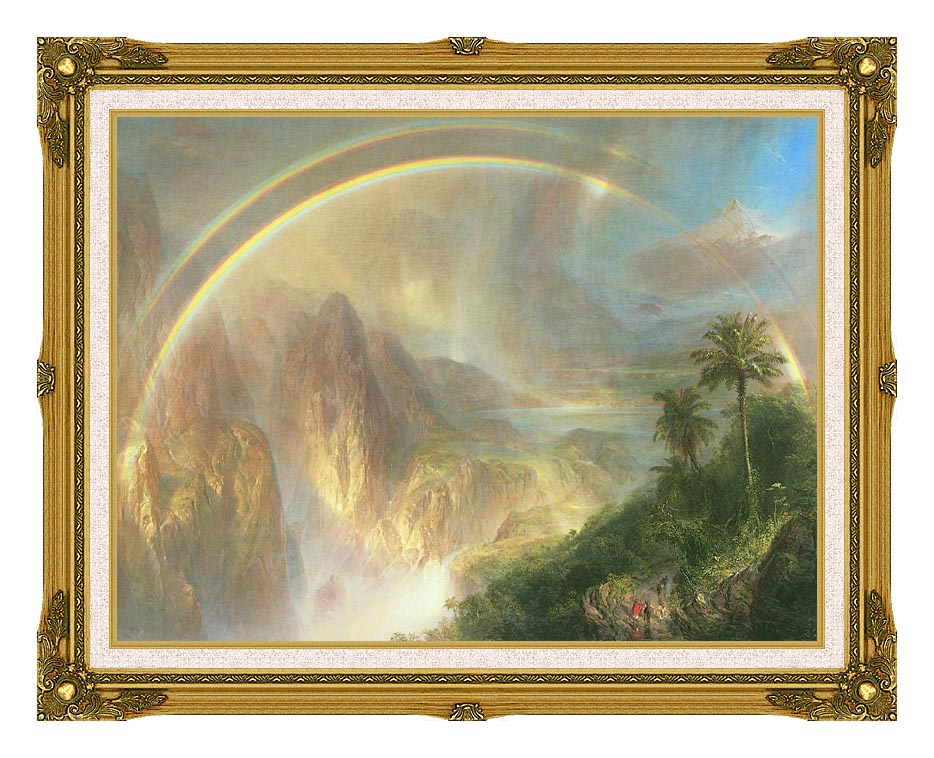 Frederic Edwin Church Rainy Season in the Tropics (detail) with Museum Ornate Frame w/Liner
