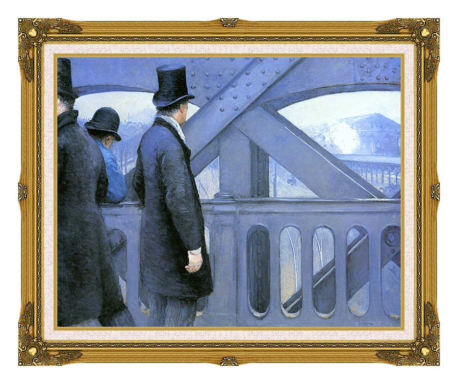 Gustave Caillebotte The Europe Bridge with Museum Ornate Frame w/Liner