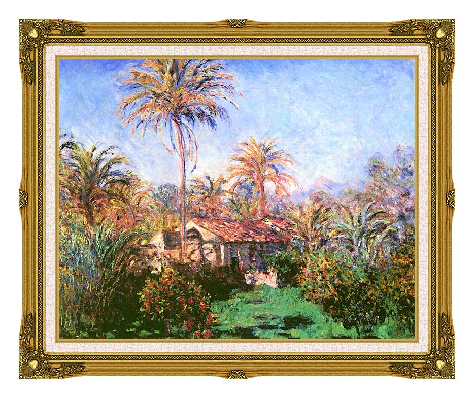 Claude Monet Palm Trees at Bordighera with Museum Ornate Frame w/Liner
