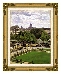 Claude Monet Garden Of The Princess Louvre canvas with museum ornate gold frame