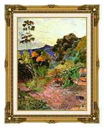 Paul Gauguin Martinique Landscape canvas with museum ornate gold frame