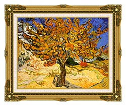 Vincent Van Gogh Mulberry Tree canvas with museum ornate gold frame
