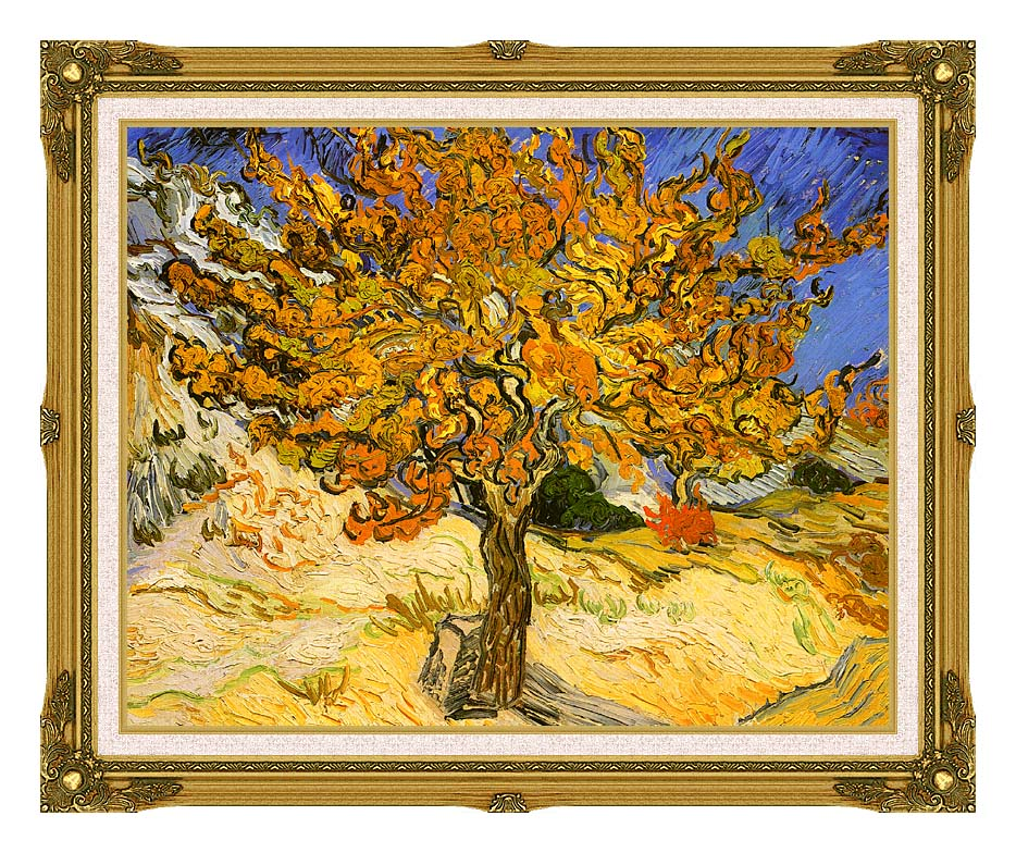 Vincent van Gogh Mulberry Tree with Museum Ornate Frame w/Liner