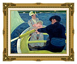 Mary Cassatt The Boating Party canvas with museum ornate gold frame