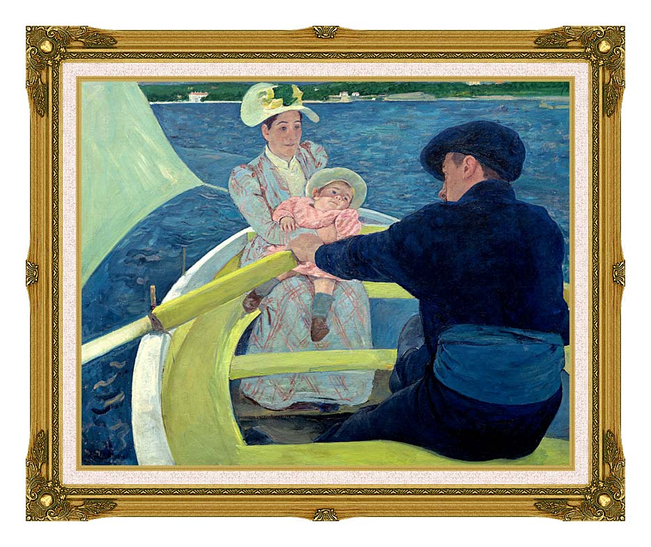 Mary Cassatt The Boating Party with Museum Ornate Frame w/Liner