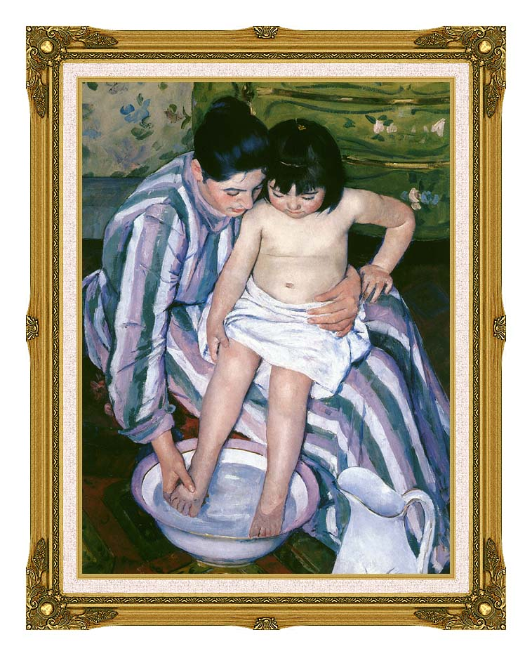 Mary Cassatt The Bath with Museum Ornate Frame w/Liner