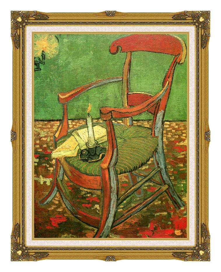 Vincent van Gogh Paul Gauguin's Armchair with Museum Ornate Frame w/Liner