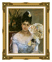 Berthe Morisot At The Ball canvas with museum ornate gold frame