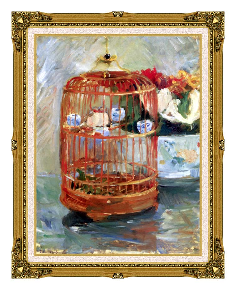Berthe Morisot The Cage with Museum Ornate Frame w/Liner