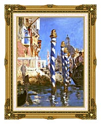 Edouard Manet The Grand Canal   Venice Italy canvas with museum ornate gold frame