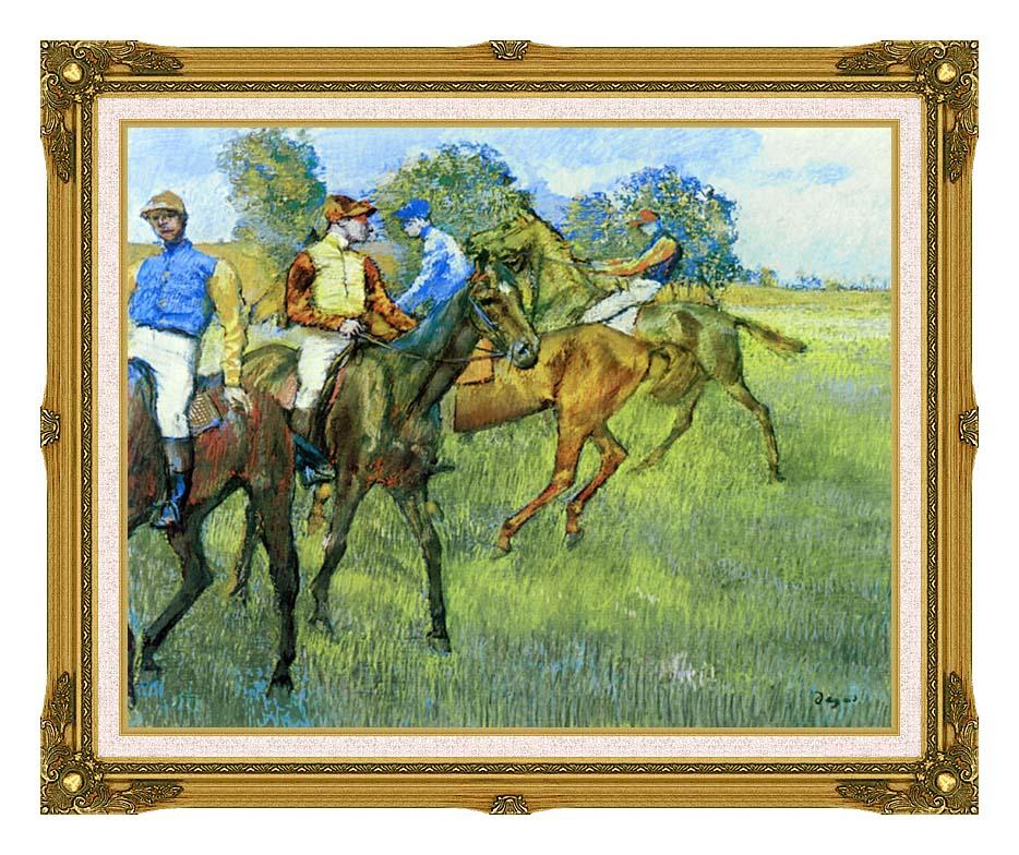 Edgar Degas Race Horses with Museum Ornate Frame w/Liner
