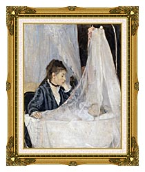 Berthe Morisot The Cradle canvas with museum ornate gold frame