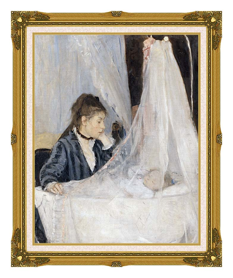 Berthe Morisot The Cradle with Museum Ornate Frame w/Liner